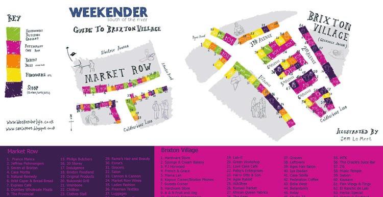 Map of Brixton Village