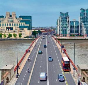 An impression of how the Vauxhall Bridge will look after the