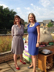 Lib Peck and Cllr Imogen Walker at Christ Church School online