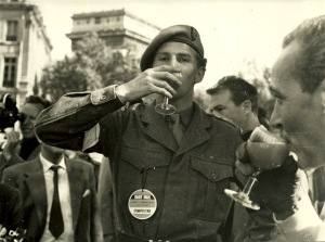 Officer Red Rory celebrates after the race in 1959