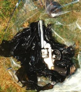 The revolver discovered in West Norwood