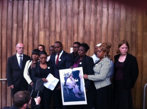 Lee Lawrence and his family after the coroners inquest
