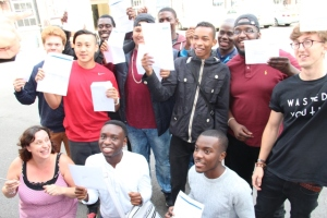 Students at Archbishop Tenison's School celebrate their results