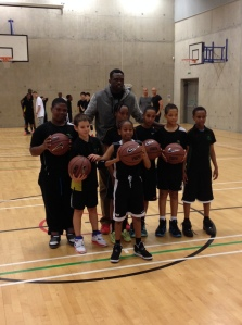 Luol Deng with Evelyn Grace students